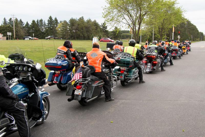 Lining up for the Wausau Spring Ride for MDA at HD Wausau