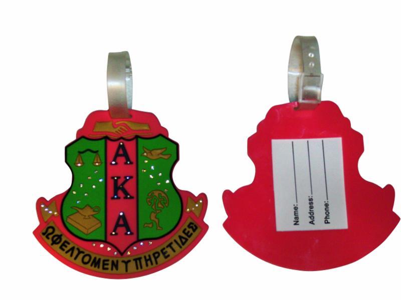 Alpha Kappa Alpha Shield Bag Tag