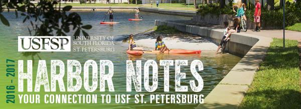 A header graphic that says _University of South Florida St. Petersburg - Harbor Notes_ Your Connection to USF St. Petersburg 2016-2017_