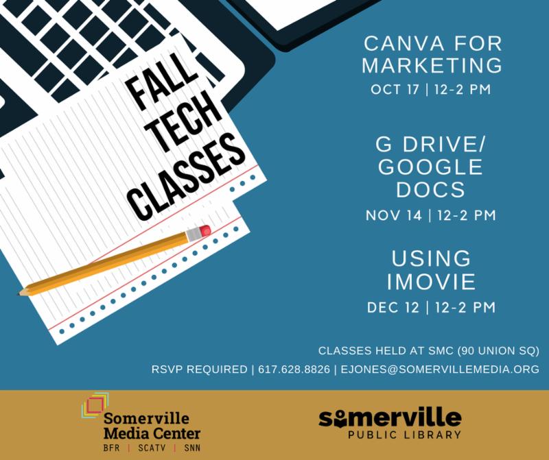 Fall Tech Classes Schedule