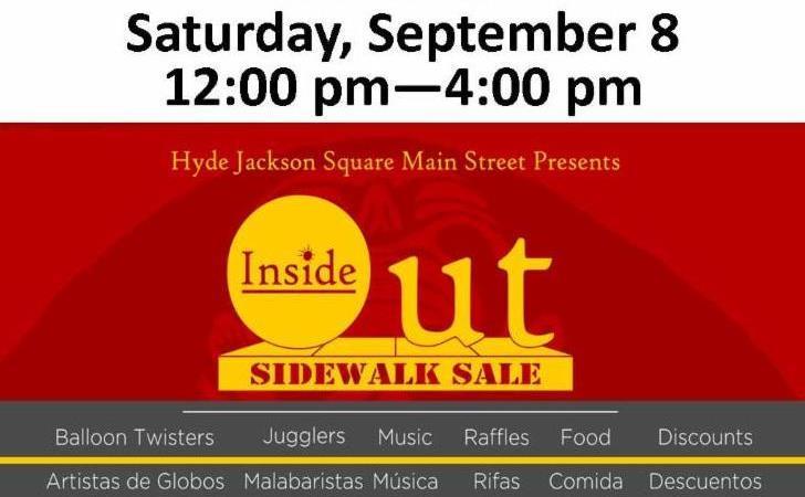 Save the Date Sidewalk Sale 2018 2
