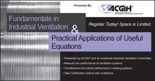 acgih industrial ventilation manual 27th edition