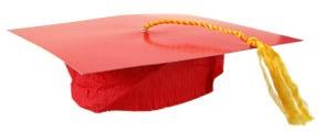 Red Grad Cap