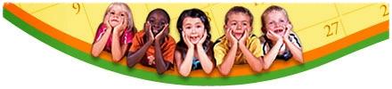 children kids calendar banner