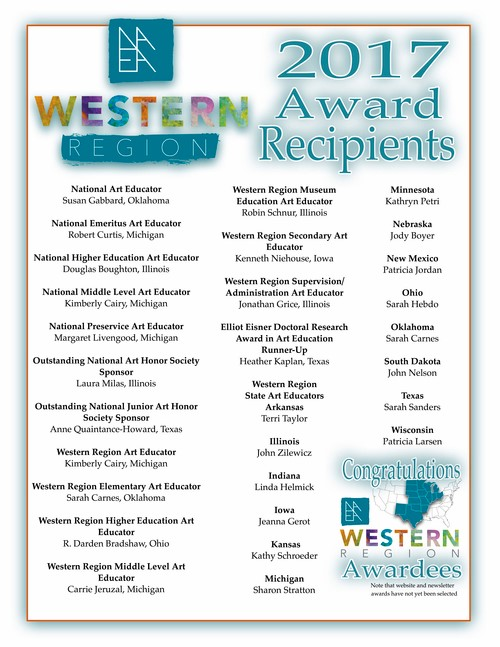 NAEA Western Region Award Winners