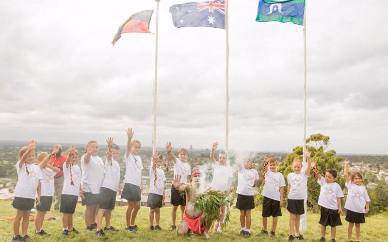 School students join with Indigenous elders this year  to remember the historic event that occurred over 200 years ago on Prosepct Hill.