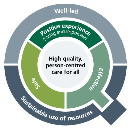 Quality Matters graphic describing what high-quality care involves