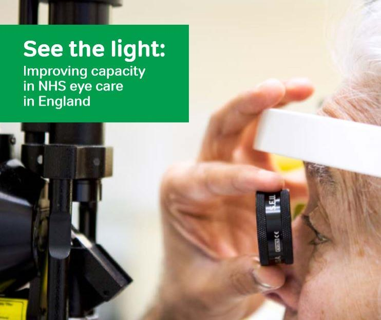 Front cover of See the light a report on NHS England eyecare