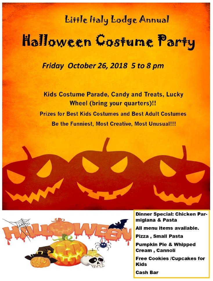 Lodge Halloween event poster