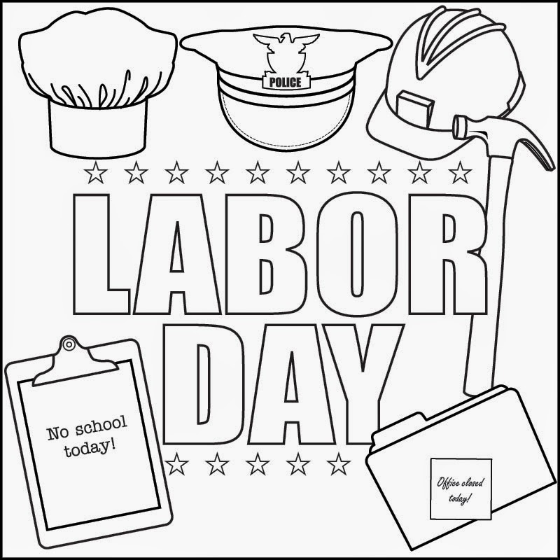Labor Day coloring page