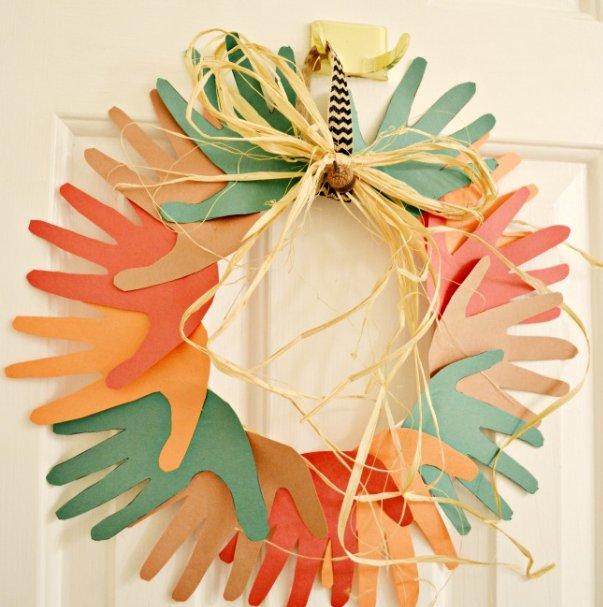 Fall hand wreath craft