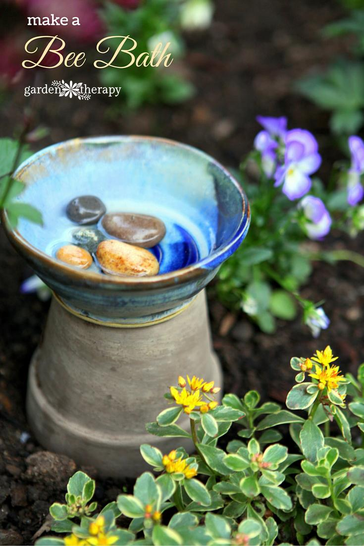 Bee Bath photo from GardenTherapy.ca