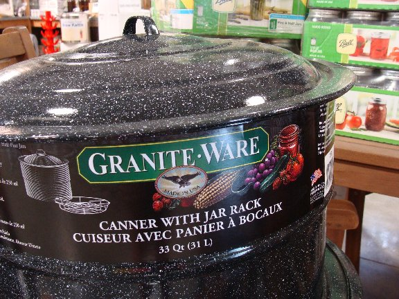 A large 33 quart canner and other canning and preserving items available at Hillermann Nursery and Florist