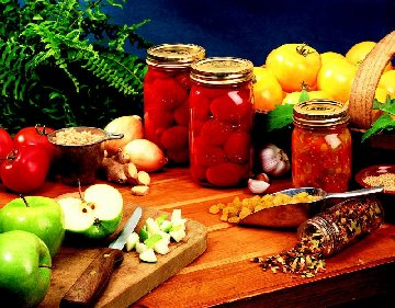 Fruits and vegetables and methods of preserving them.