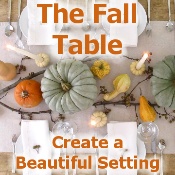 The Fall Table - title block with a picture of a fall table setting