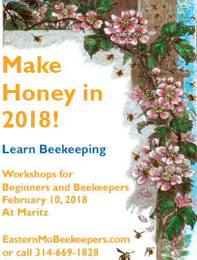 Learn Beekeeping Workshop by EMBA flyer - visit www.easternmobeekeepers.com