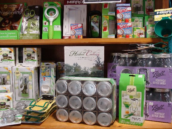 Canning and preserving items available at Hillermann Nursery and Florist