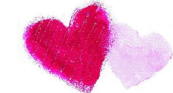 Pink Hearts by Suzette Boulais