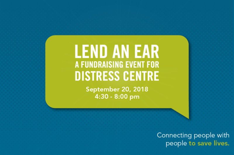 Lend An Ear: A fundraising event for Distress Centre