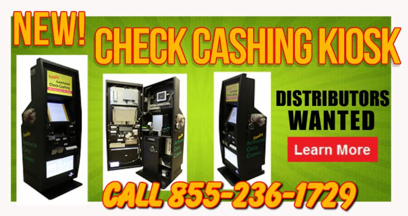 Check Cashing Kiosk | Water Vending | Sqwishland Toys