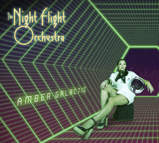 The Night Flight Orchestra Amber Galactic alternate cover