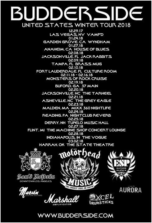 emerging la rockers budderside announce winter u s tour dates with la guns shockwave magazine. Black Bedroom Furniture Sets. Home Design Ideas
