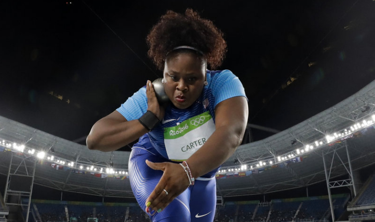 Michelle Carter, 2016 Olympic Gold Medalist in the Shot Put