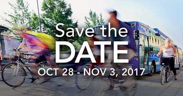 Save the Date October 28 - November 3, 2017