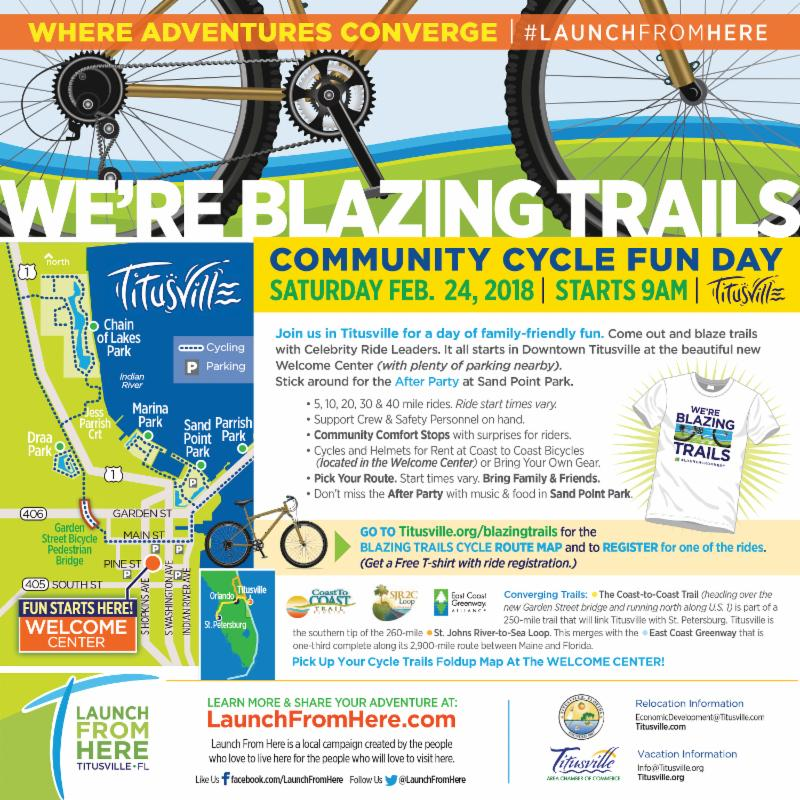 Community Cycle Fun Day in Titusville Saturday February 24