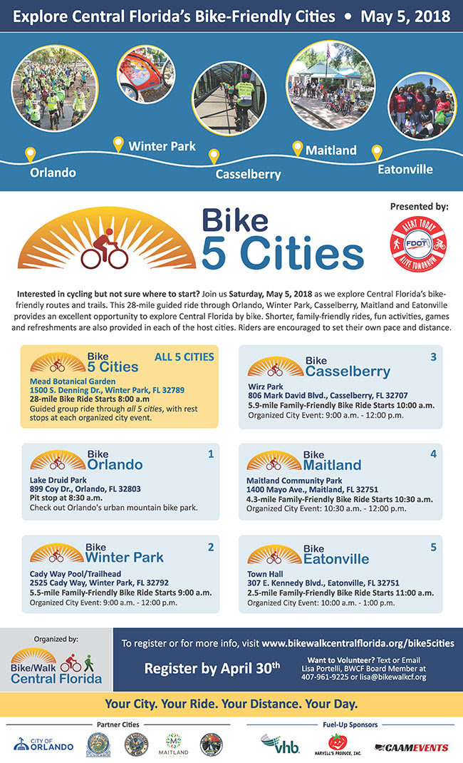 Bike 5 Cities Ride May 5