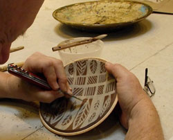 Student working in a Yourist Studio Gallery pottery class
