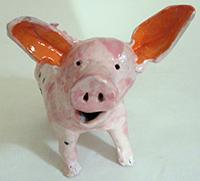 Piglet sculpture by Maria Polenberg