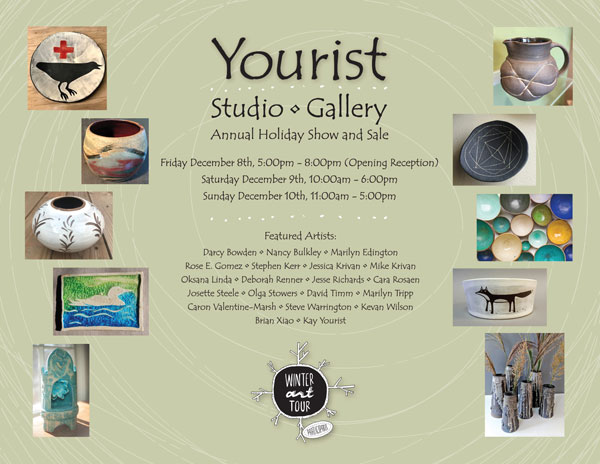 Yourist Holiday Show and Sale poster