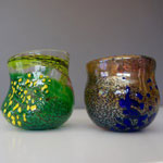 Glass blown cups by Larry Nisson