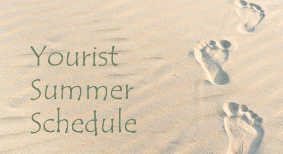 Yourist summer schedule graphic