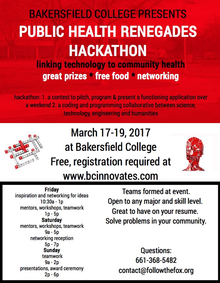 Bakersfield College to Host Public Health Hackathon