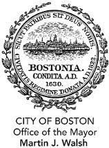 Seal of the City of Boston, Office of the Mayor, Martin J. Walsh