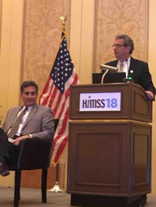 Dan Porreca presenting at HIMSS 18