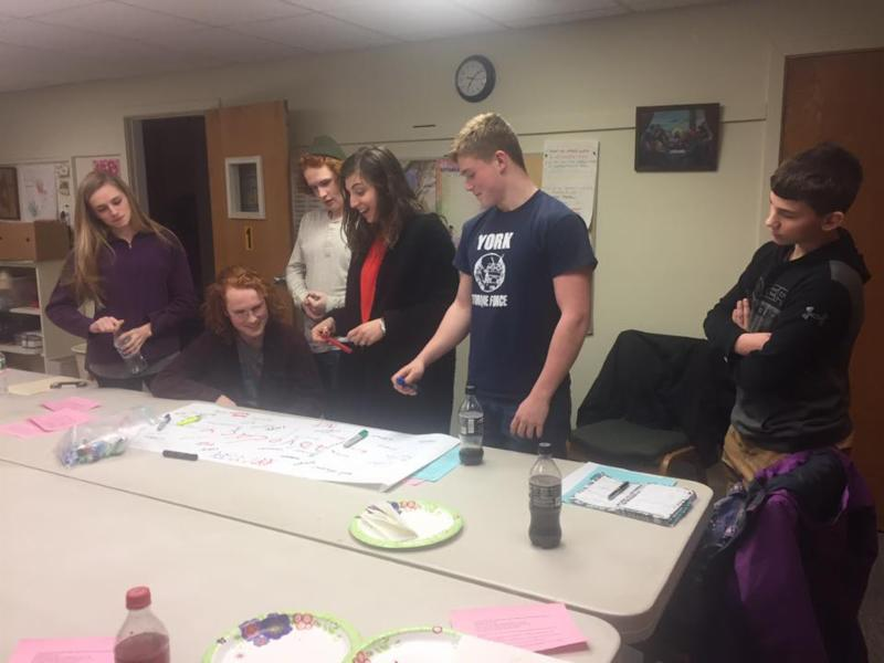 Members Of The Youth Group At St. Georgeu0027s, York Harbor, At A Recent  Session To Learn To Use Their Faith Voice In The Public Square. They Will  Participate