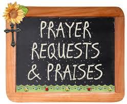 Nov Prayer Requests