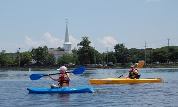 kayaking on 100 Acre Cove
