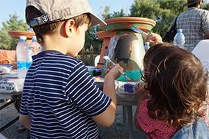 Kids_making_birdbath_Birdlife_Cyprus
