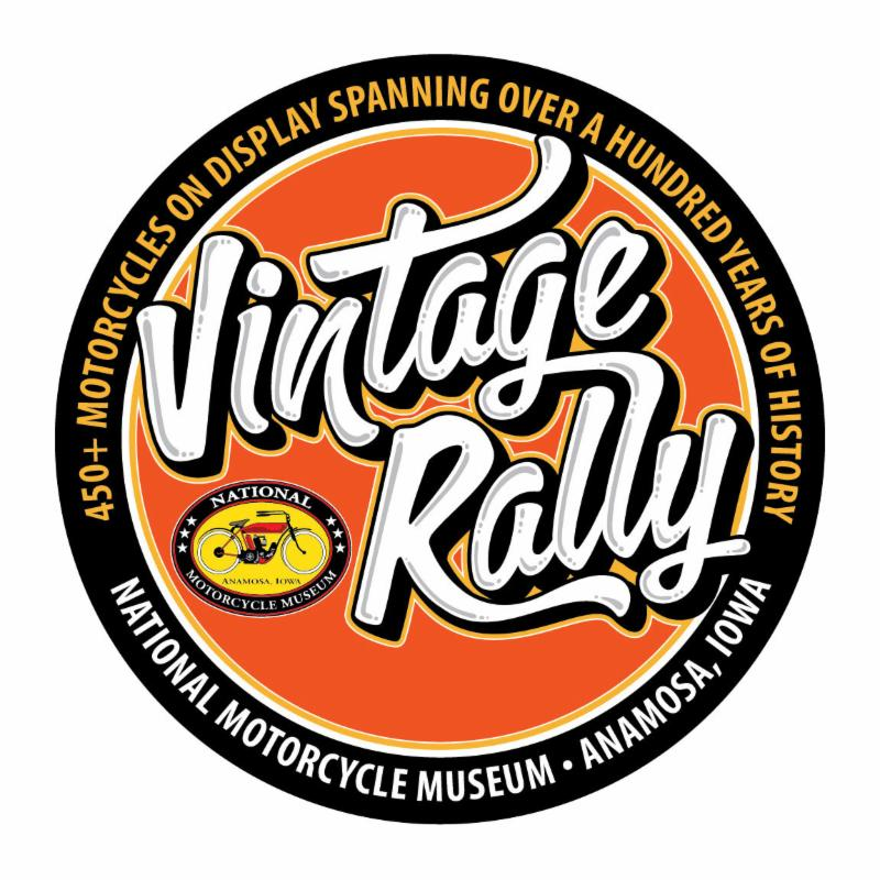 National Motorcycle Museum Vintage Rally Round Metal Sign