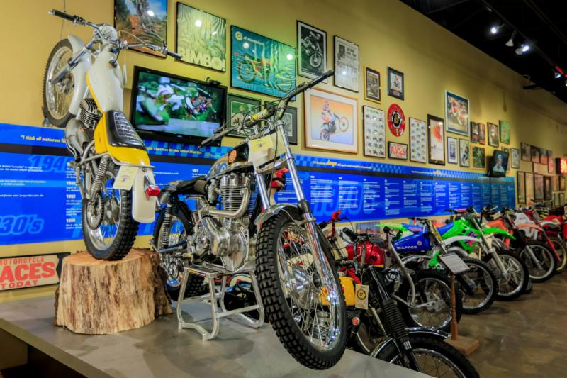 DIRT RIDING USA_ 50 great Trials_ Enduro and Motocross bikes help trace the 1970_s and 80_s_ glory days of dirt racing and off-road motorcycle design on display for a limited time.