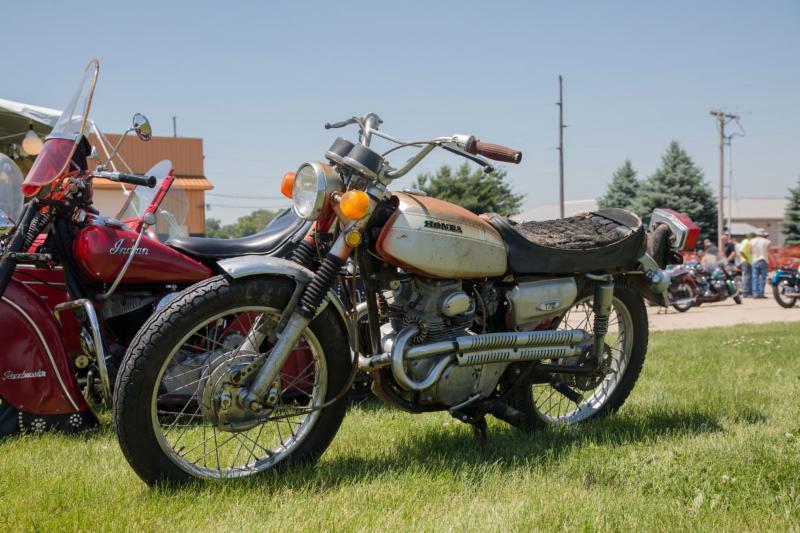 Vintage Rally Bike Show Participant
