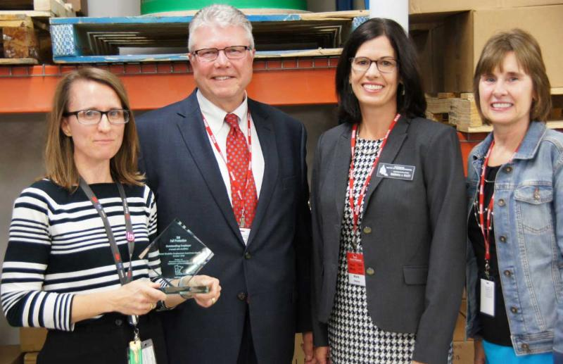 3M Plant Manager Janice Neitzel, left, received the Employer Award from MOHR