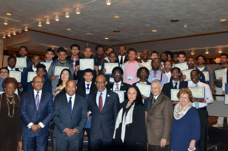 MBK Fellows with members of the Board of Regents and Assembly Speaker Heastie