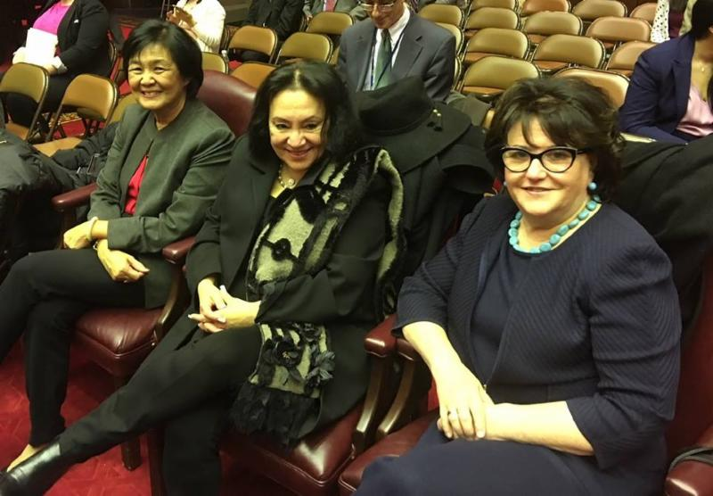 Regent Chin_ Chancellor Rosa_ and Commissioner Elia