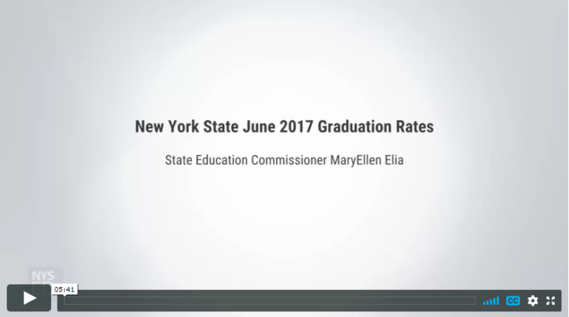 VIdeo_ New York State 2017 Graduation Rates_ State Education Commissioner MaryEllen Elia