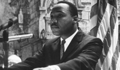 Dr. Martin Luther King_ Jr. delivering a speech